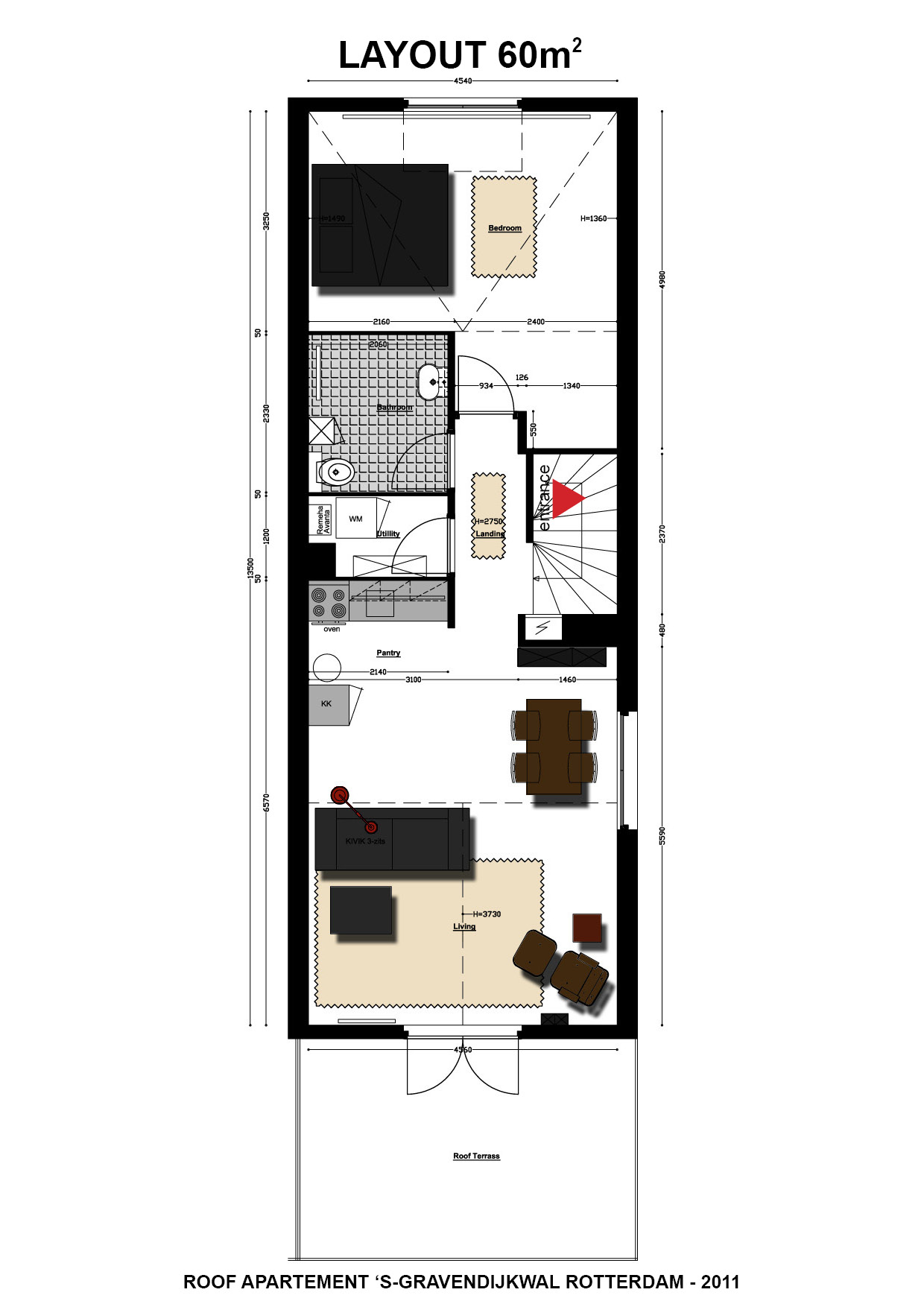 Zolder appartement: te koop