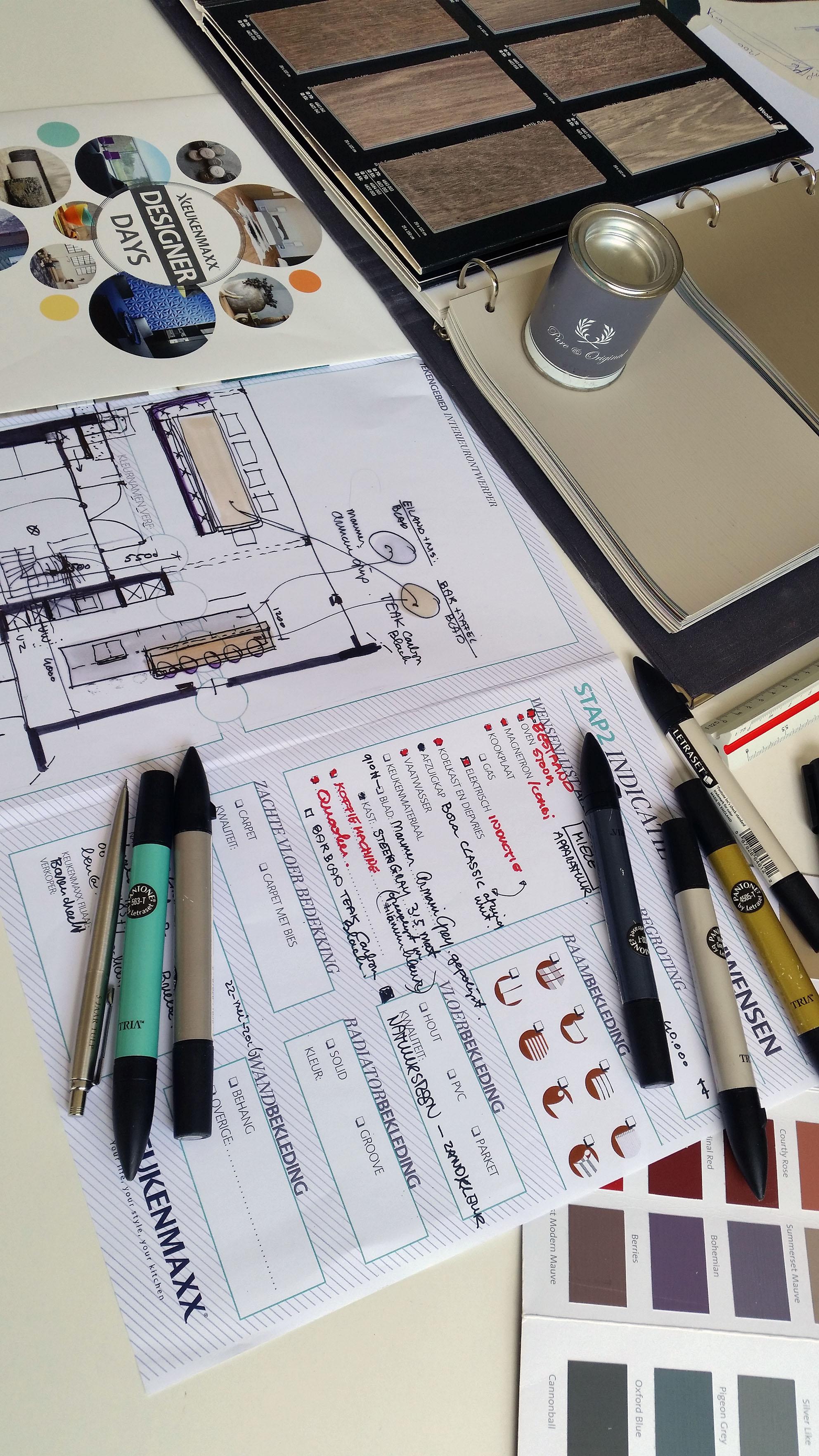 #DesignerDays, keukenontwerp aan tafel.